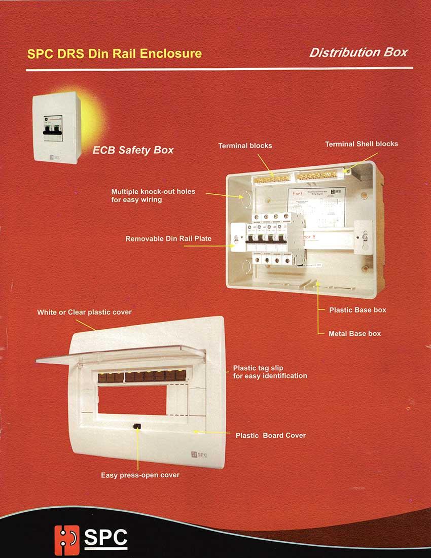 SPC Din Rail Enclosures - Distribution Box